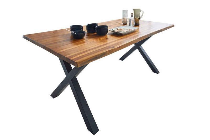 SAM® Baumkantentisch »Baku«, Akazie Massivholz cognacfarben 26mm natürliche Baumkante