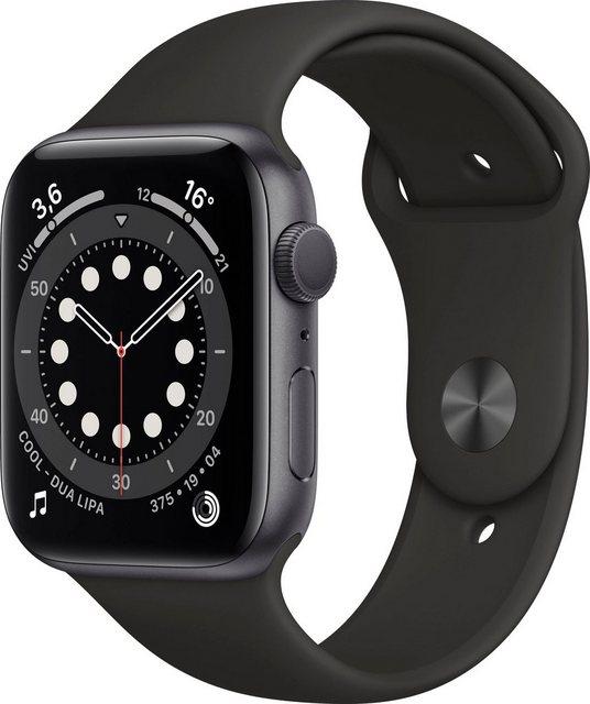 Smartwatches - Apple Series 6 GPS, Aluminiumgehäuse mit Sportarmband 44mm Watch (Watch OS), inkl. Ladestation (magnetisches Ladekabel)  - Onlineshop OTTO