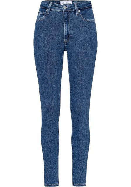 Hosen - Calvin Klein Jeans Skinny fit Jeans »HIGH RISE SKINNY« mit CK Monogramm Logo Stickerei Badge ›  - Onlineshop OTTO