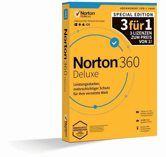 Norton Box-Pack 1 Jahr - 3 Gerätete (Virenprogramm, Download-Code)