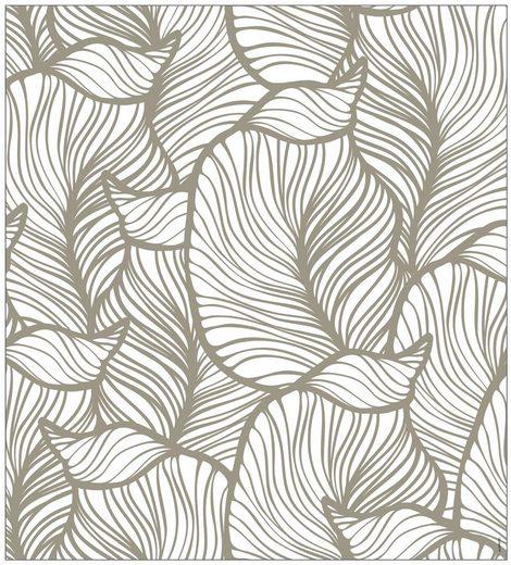 MYSPOTTI Fensterfolie »mySPOTTI look Leaves beige«, 90 x 100 cm, statisch haftend