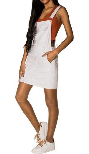 Nina Carter Sommerrock »3528« (1-tlg) Damen Denim Jeans Latzrock Basic Träger Latzkleid Overall
