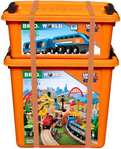 BRIO® Spielzeug-Eisenbahn »Smart Tech Sound Deluxe Set«, (Set, 91-tlg), mit Soundeffekten, app-fähig; FSC® - schützt Wald - weltweit