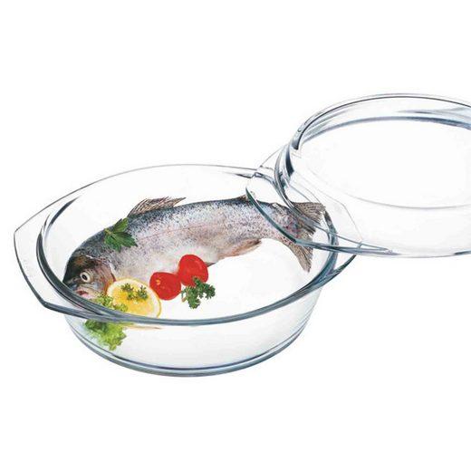 SIMAX Auflaufform »Glas Auflaufform mit Deckel 24,9 cm«, Glas, (1-St)