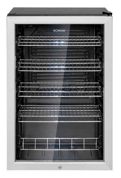 BOMANN Getränkekühlschrank KSG 7283.1, 54 cm breit, Kindersicherung durch abschließbare Gerätetür