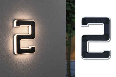Paulmann Außen-Wandleuchte »Outdoor Solar«, Hausnummer 2