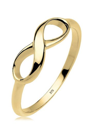 Elli Premium Fingerring »Infinity Unendlichkeit 375 Gelbgold«, Infinity