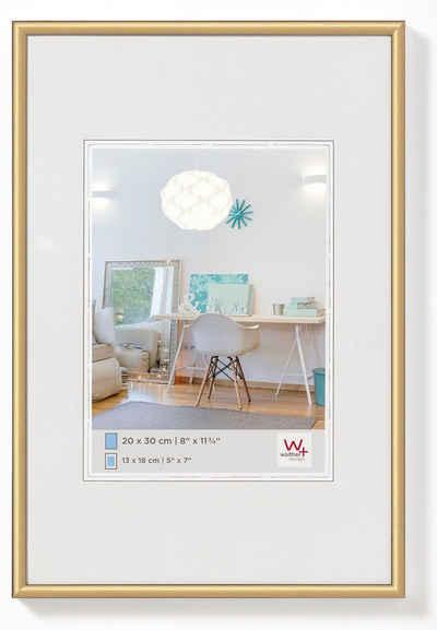 Walther Bilderrahmen »New Lifestyle Kunststoffrahmen 30 x 40 cm, GOLD«, (1 Stück)