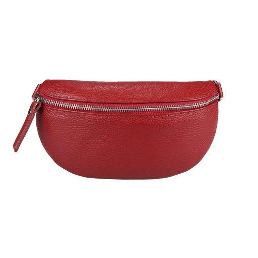 ITALYSHOP24 Bauchtasche »Damen Leder Gürteltasche Hüfttasche CrossBody«, als Schultertasche, CrossOver, Umhängetasche tragbar