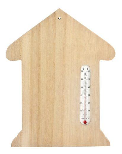 VBS Dekoobjekt »Wandthermometer Haus«, 17 cm x 22 cm