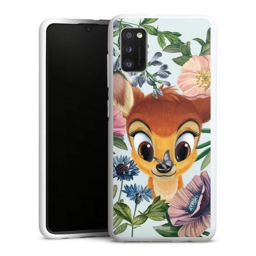 DeinDesign Handyhülle »Bloomy Bambi« Samsung Galaxy A41, Hülle Disney Offizielles Lizenzprodukt Bambi