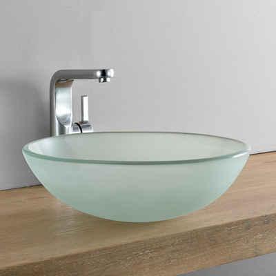 neu.haus Aufsatzwaschbecken, »Bryne« Waschbecken aus Glas rund