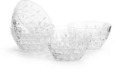 sagaform Dessertschale, Kunststoff, (Set, 4-tlg), aus hochwertigem Acryl, mit Dreieck-Prägung - perfekt geeignet für den Einsatz im Außenbereich