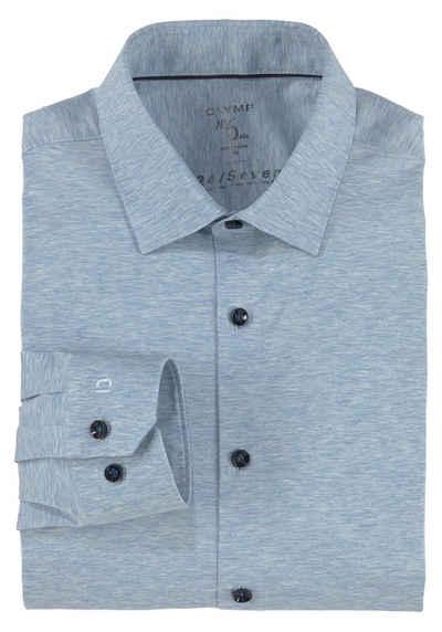 OLYMP Businesshemd »No. Six super slim« in bequemer Jersey-Qualität