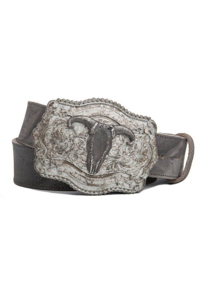 cassandra -  Ledergürtel »Western« mit extravaganter Vintage-Koppelschließe