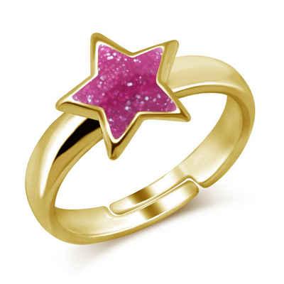 schmuck23 Fingerring »Kinder Ring Stern 925 Silber«, Kinderschmuck Silberring Mädchen Geschenk