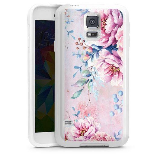 DeinDesign Handyhülle »Watercolour Flower 3« Samsung Galaxy S5 Neo, Hülle Blume Wasserfarbe Sommer