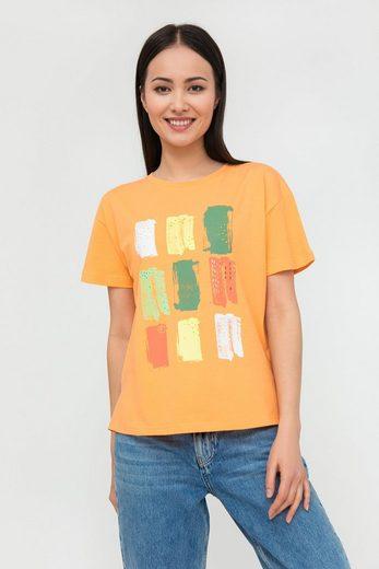 Finn Flare T-Shirt mit farbigem Frontdruck