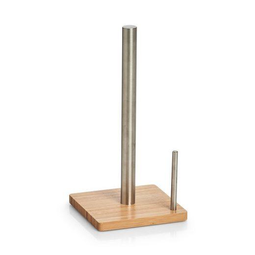 Zeller Present Küchenrollenhalter, (1-St), Edelstahl/Bambus