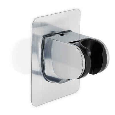 Intirilife Brausehalter »Verstellbarer Duschkopfhalter zum Kleben Silber«, Handbrause Halterung ohne Bohren - 9.5 cm x 7 cm