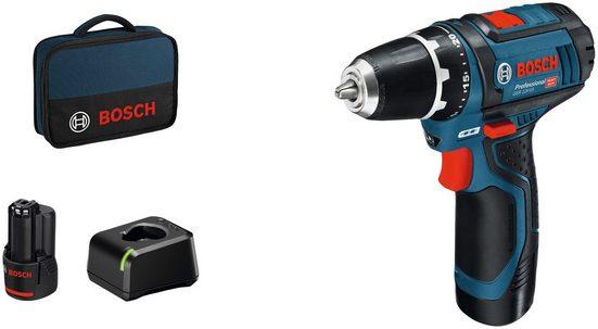 Bosch Professional Akku-Bohrschrauber »GSR 12V-15«, max. 1300 U/min, (Set), inkl. 2 Akkus und Ladegerät