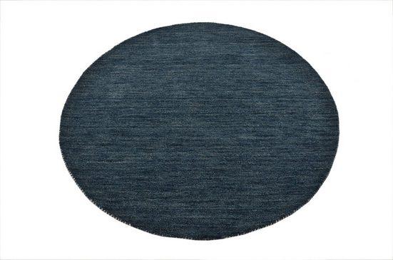Wollteppich »Gabbeh Uni«, Theko Exklusiv, rund, Höhe 15 mm, reine Wolle, elegante meliertes garn, Wohnzimmer