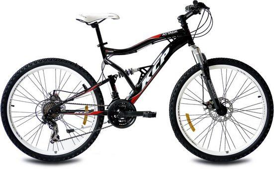KCP Mountainbike »Attack«, 21 Gang Shimano Tourney RD-TY300-GS Schaltwerk, Kettenschaltung, (1-tlg)
