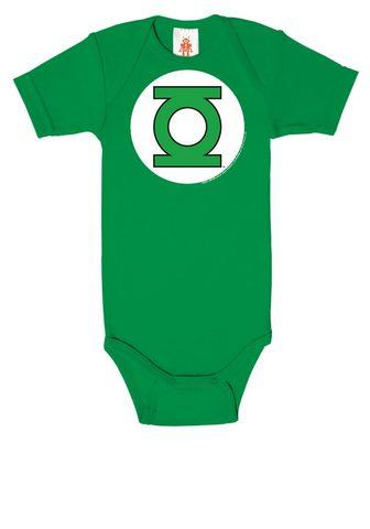 LOGOSHIRT Baby-Body su auffälligem Green-Lantern...