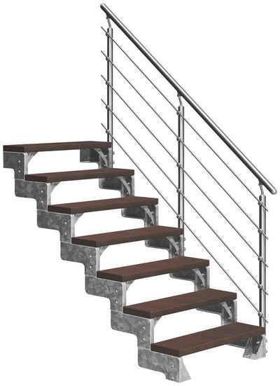 Dolle Außentreppe »Gardentop«, für Geschosshöhen bis 154 cm, Stufen offen, TRIMAX®-Stufen 80 cm