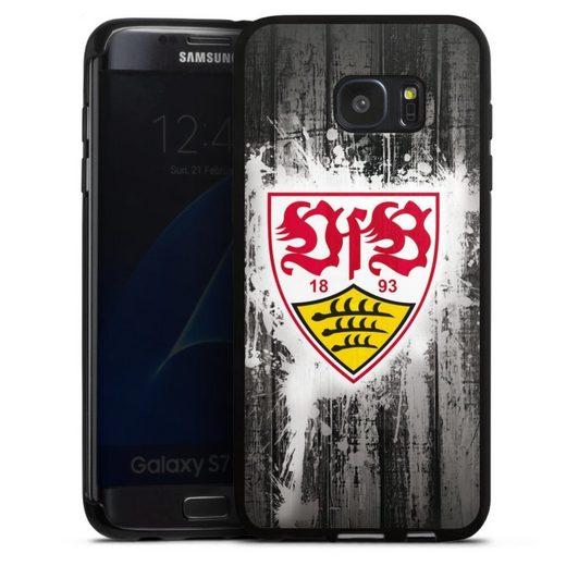 DeinDesign Handyhülle »VfB Stuttgart Splash« Samsung Galaxy S7 Edge, Hülle VfB Stuttgart Offizielles Lizenzprodukt Bundesliga