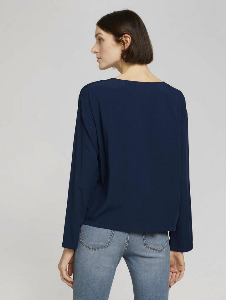 tom tailor denim -  Langarmbluse »Lockere Bluse mit Knopfleisten«