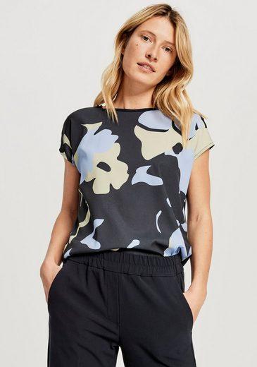 OPUS Kurzarmshirt »Siko« mit floralem Print vorne