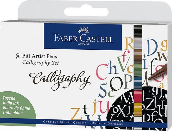 Faber-Castell Dekorierstift »Tuschestifte Pitt Artist Pen, 8 Farben«