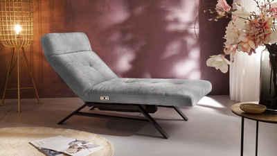 KAWOLA Relaxliege »AMERIVA«, Sessel Relaxliege Velvet versch. Farben und versch. Ausführungen