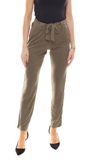 Deik & Dunes Paperbag-Hose »DEIK & DUNES Paperbag-Hose Milia stylische Damen Stoff-Hose mit Kontraststreifen Business-Hose Khaki«