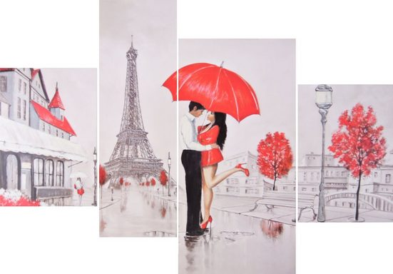 INOSIGN Wandbild »RUMIN / Paris Love«, 2x 25/35, 1x 20/60, 1x 30/60 cm