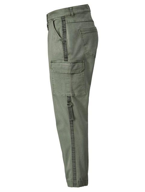 Hosen - Angel of Style by HAPPYsize Cargohose mit elastischem Saum › grün  - Onlineshop OTTO