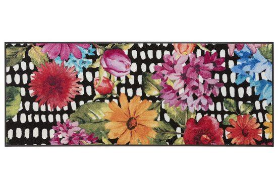 Fußmatte Blumen, waschbar