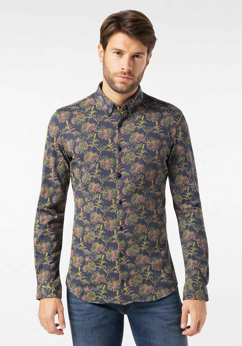 Pierre Cardin Langarmhemd »Jersey Hemd - Slim Fit«