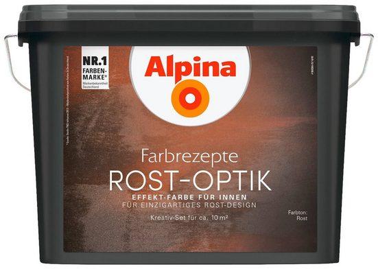 ALPINA : Innenfarbe »Farbrezepte - Rost-Optik«, Effektlasur für Innen, 1,2 l