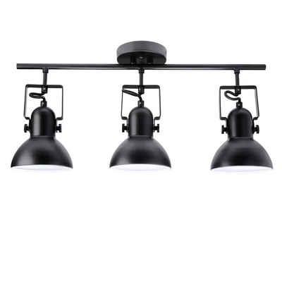 Licht-Erlebnisse Deckenstrahler »DALLAS«, Deckenstrahler Schwarz Metall verstellbar retro Spot Lampe