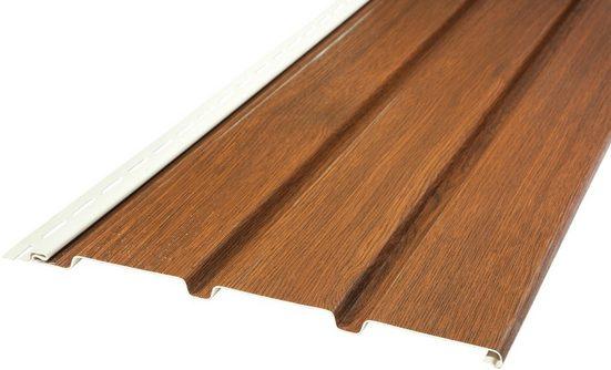 BAUKULIT Set: Verkleidungspaneel »SOFFIT Nussbaum«, für Dachüberstand, 8,1 m²