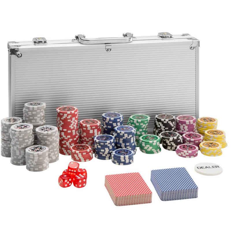 tectake Spiel, »Pokerset inkl. Aluminiumkoffer«