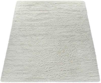 Hochflor-Teppich »Silky 591«, Paco Home, rechteckig, Höhe 33 mm, Shaggy, besonders weich und kuschelig, Uni Farben, Wohnzimmer