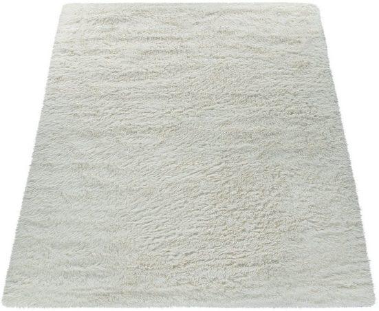 Hochflor-Teppich »Silky 591«, Paco Home, rechteckig, Höhe 33 mm, Uni Farben, besonders weich und kuschelig, Wohnzimmer