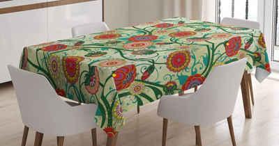Abakuhaus Tischdecke »Personalisiert Farbfest Waschbar Für den Außen Bereich geeignet Klare Farben«, Blumen Oriental Inspirations