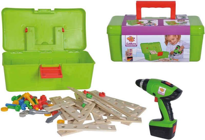 Eichhorn Konstruktionsspielsteine »Constructor Werkzeugbox«, (70 St), Made in Germany, FSC®-Holz aus gewissenhaft bewirtschafteten Wäldern