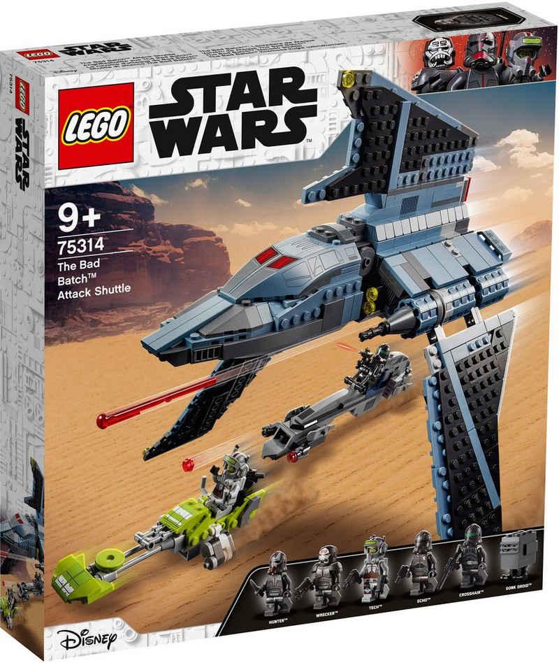 LEGO® Konstruktionsspielsteine »Angriffsshuttle aus The Bad Batch™ (75314), LEGO® Star Wars™«, (969 St), Made in Europe