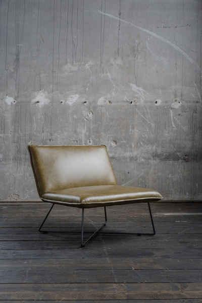 KAWOLA Sessel »WILLOW«, Cocktailsessel Leder versch. Farben