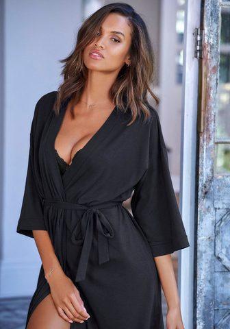 LASCANA Kimono su weiten Ärmeln ir Bindeband